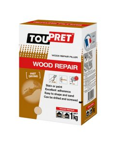 Toupret Wood Repair Fast Drying Wood Filler Beige 1kg