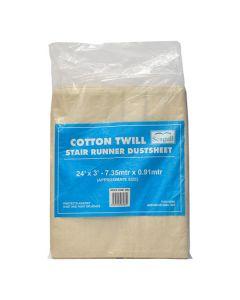 Seagull Cotton Twill Dustsheet Stair Runner 24ft x 3ft