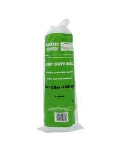 Seagull Plastic Dustsheet Light Duty 4m x 25m Roll