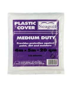 SEAGULL Plastic Dustsheet - Medium - 12 microns 4x5m