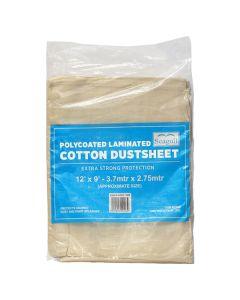 SEAGULL Polycoated Cotton Laminated Dustsheet 12x9ft
