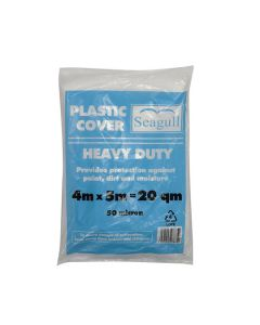 SEAGULL Heavy Duty Plastic Dustsheet - 50 microns 4x5m