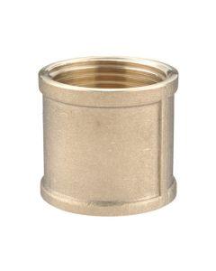 Brass Fitting - Socket Female/Female 1/2in