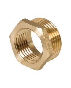 Brass Hexagon Bush 1in x 3/4in