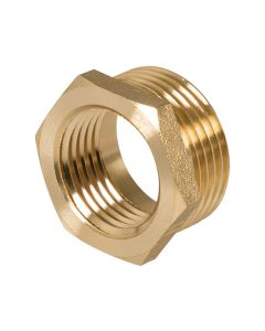 Brass Hexagon Bush 1/2in x 3/8in