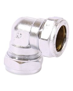 Compression Chrome Elbow 15mm