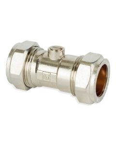Isolating Valve - Chrome CxC 15mm Cp