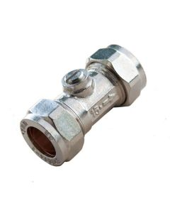Isolating Valve - Chrome CxC 22mm Cp