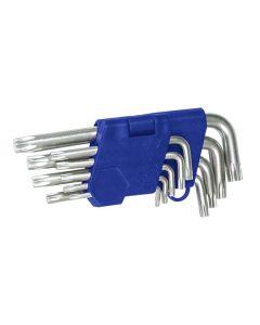TOOLTECH Torx Key Set - Clip Pack 9pcs T10-T50