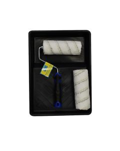 Roller Tray Set - Trade Q. All Paints - 2 Microfibre Sleeves 7in
