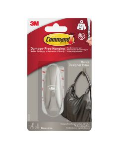 3M Command - Hook Medium 1 Hook Chrome