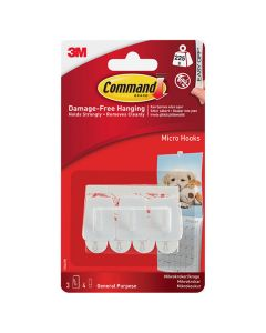 3M Command - Hooks Micro 3 Hooks White