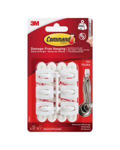 3M Command - Hooks Mini 6 Hooks Clear