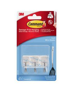 3M Command Hooks Utensil Clear 3 Hooks