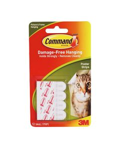 3M Command Poster Hanging Strips 12 Pack