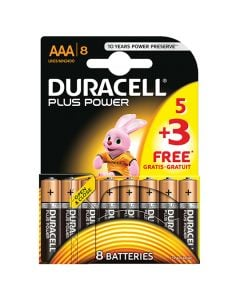 Duracell Battery AAA Multi Pack of 8