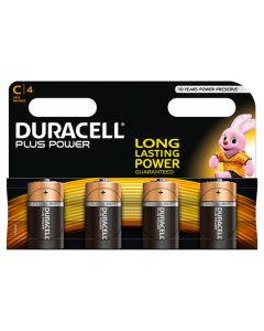 Duracell Battery C Multi Pack of 4