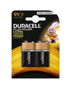 DURACELL Battery Twin Pack 9V