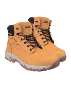 STANLEY Tradesman Safety Boots Size 8 Honey