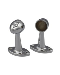 Tubing End Socket Pair Chrome 1in