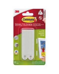 3M Command Picture Hanging Strips Large 4 Sets
