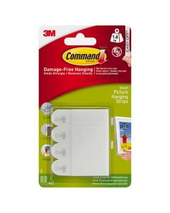 3M Command - Picture Hanging Strips Small 4 Sets