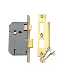 Union Mortice Latch Lock 3 Lever Satin 3in