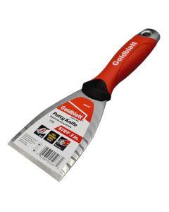Goldblatt Putty Knife Stiff Hammer End Soft Grip 3in