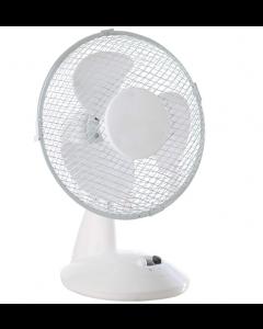 Desk Top Fan 9in White