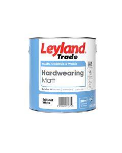 Leyland Trade Hardwearing Matt Paint Brilliant White 2.5L