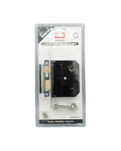 Union Mortice Sashlock 3 Lever Essentials Chrome 3in