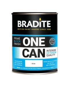 BRADITE One Can Primer Stain Block & Finish 1L White
