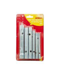 Amtech Box Spanner Set & Tommy Bar 6 Pieces