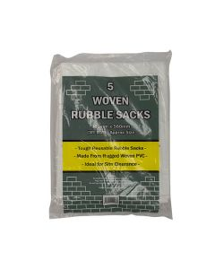 Heavy Duty Woven Rubble Sacks Pack of 5