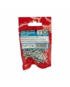 Self Tapping Screws Pan ZP 6x1in Pack of 30