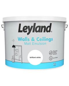 Leyland Matt Emulsion Paint Brilliant White 10L