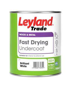 LEYLAND Fast Drying Water Based Undercoat 750ml B/White