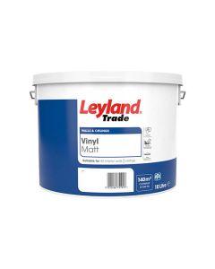 Leyland Trade Vinyl Matt Emulsion Paint White 10L