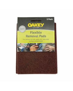 Oakey Flexible Removal Pads Brown 150mm x 115mm Pack of 5