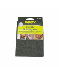 Oakey Flexible Finishing Pads Grey 150m x 115mm Pack of 5