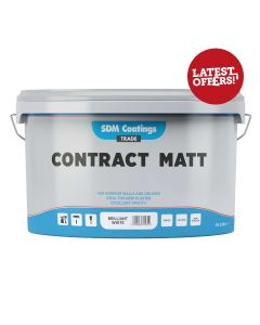 SDM Coatings Contract Matt Brilliant White 10Ltr