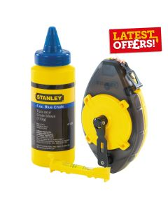 Stanley Chalk Line Reel Power Winder Kit w/Chalk & Level 30m
