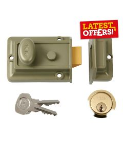 Yale Lock - Night Latch Traditional No.77 60mm Grey/Green