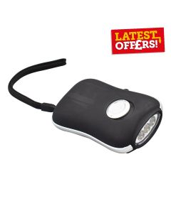 Proteam Wind Up 3 LED Soft Touch Torch