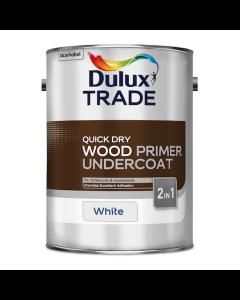 Dulux Trade Quick Dry Wood Primer Undercoat Paint White 5L