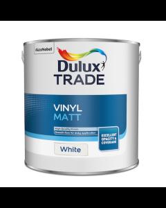 Dulux Trade Vinyl Matt Emulsion Paint White 2.5L