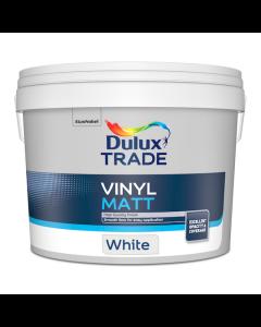 Dulux Trade Vinyl Matt Emulsion Paint White 10L