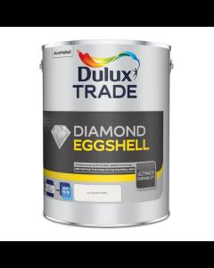 Dulux Trade Diamond Eggshell Paint Pure Brilliant White 5L