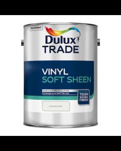 Dulux Trade Vinyl Soft Sheen Emulsion Paint Pure Brilliant White 5L