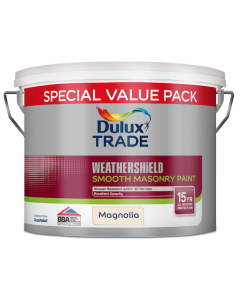 Dulux Trade Weathershield Smooth Masonry Paint Magnolia 7.5L